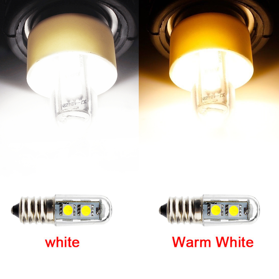 1PCS <font><b>Mini</b></font> <font><b>E14</b></font> <font><b>LED</b></font> <font><b>Lamps</b></font> 5050 SMD 1W Crystal Chandelier 110/220V Spotlight Corn Bulbs Pendant Fridge <font><b>Refrigerator</b></font> Light image