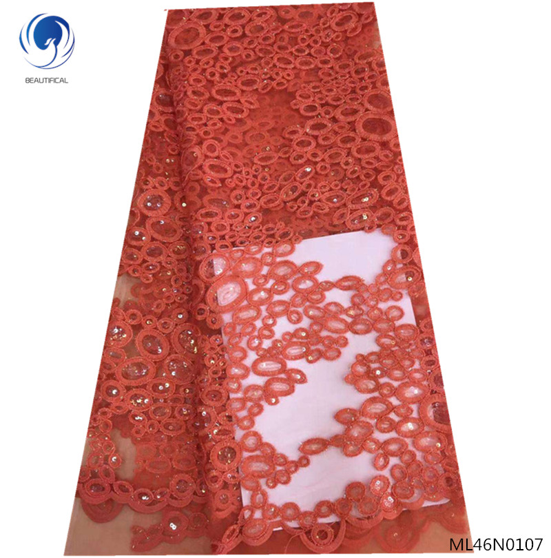 BEAUTIFICAL wedding lace fabric with sequin red lace fabric embroidery french lace fabric 5yards/lot for lady clothes ML46N01BEAUTIFICAL wedding lace fabric with sequin red lace fabric embroidery french lace fabric 5yards/lot for lady clothes ML46N01