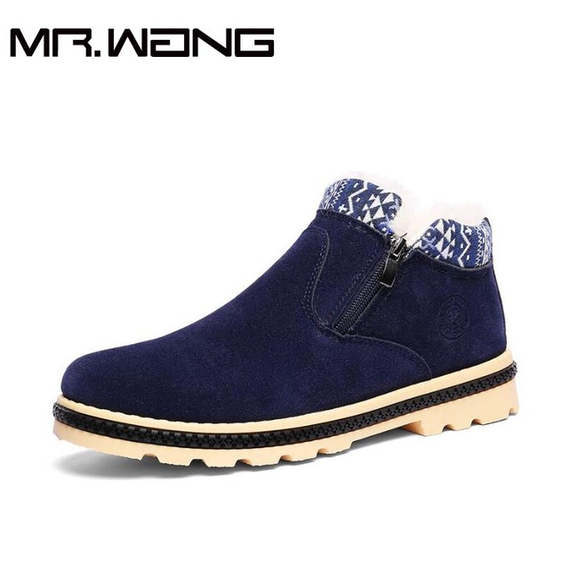2017 NEW Brand  Winter men boots Men flats cotton shoes Winter Boots Plush Fur Cotton-Padded Shoes High top shoes    CC-57