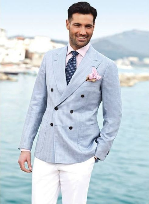 Popular Double Breasted Suit Linen-Buy Cheap Double Breasted Suit ...