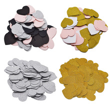 100Pcs/Pack Paper Confetti 3CM Love Heart Shape Birthday Decor Baby Shower Cake Topper Table Decoration Even Party Supplies 5Z