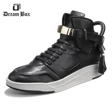 Casual shoes mens hot sale flat sneakers breathable platform shoes Metal lock shoes Men's boots high to help casual shoes mens недорго, оригинальная цена