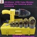 Высокое качество водопровод инструменты DN20-63mm AC220V 800 Вт пластиковых труб сварочный аппарат  Пластиковые сварщик