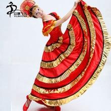 New Women Ballroom Smooth Tango Flamenco Dance Skirt 540degree/Adult Flamenco Dresses