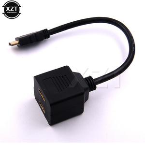 High Quality Male to 1 port output Female Switch Y Splitter Cord Cable Adapter HDMI TO HDMI 2 port input For HD DVD LCD TV Game