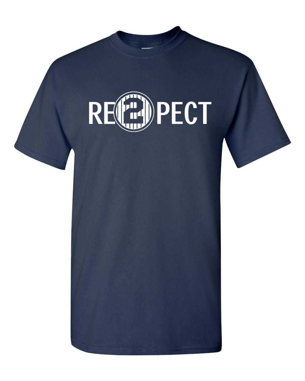 LEQEMAO Quality Print New Summer Style Cotton Respect 2 Re2pect Derek Jeter Captain Ny Yankees Mens Tee Shirt 1173 ...