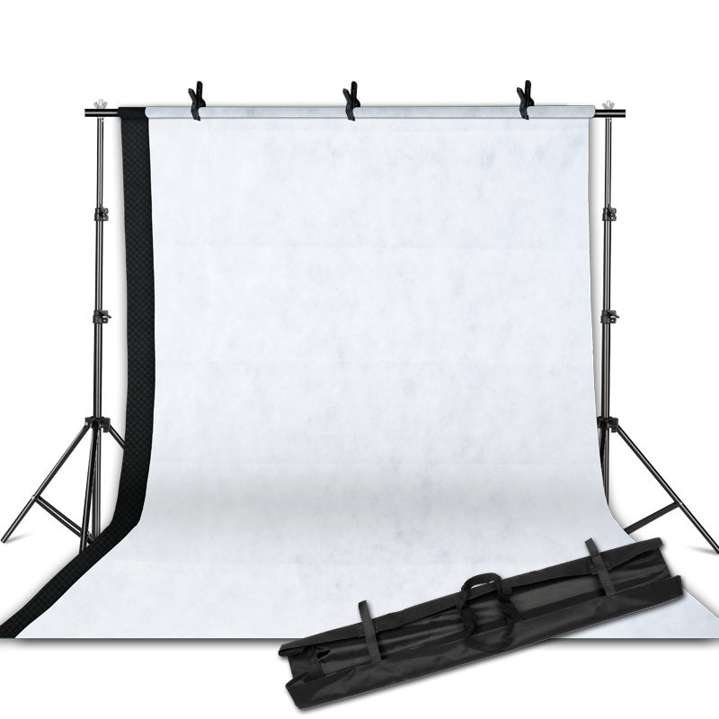 Photographic equipment White Black Backdrops Screen+ 2m x 2m Background Support Stand Light Kit Background Stand seriesPhotographic equipment White Black Backdrops Screen+ 2m x 2m Background Support Stand Light Kit Background Stand series