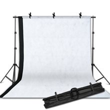 Photographic equipment White Black Backdrops Screen+ 2m x 2m Background Support Stand Light Kit Background Stand series