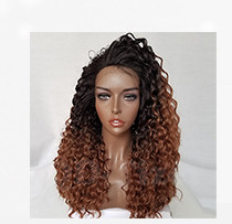 QD-Tizer 180% Density Black Loose Hair Synthetic Lace Wigs Long Loose Curly Synthetic Lace Front Wigs for Fashion Women013