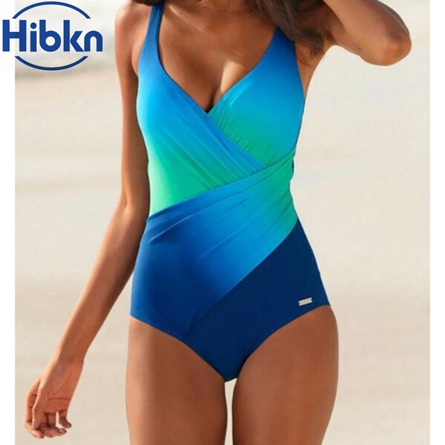 3ec1c41f60c Plus size women one piece sport swimsuit halter one piece swimwear rainbow  print bathing suit women plus size body suit