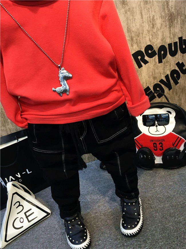 Children girls and boys candy color turtleneck bottoming t shirt (8)