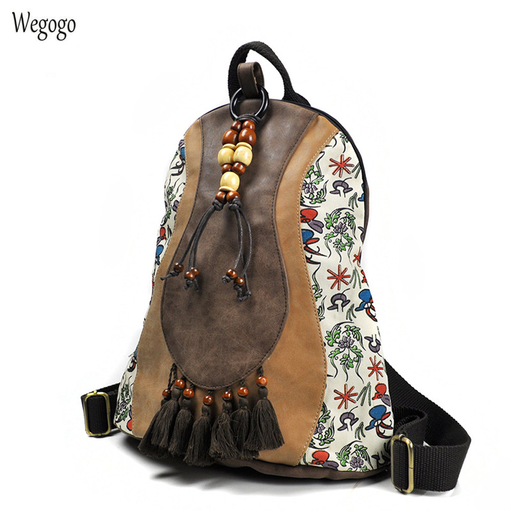 Vintage Women Backpacks Portable Canvas Bag Travel Bags Women PU Bag Ethnic Canvas Leisure Women Bags Bolsos Mujer Sac A DosVintage Women Backpacks Portable Canvas Bag Travel Bags Women PU Bag Ethnic Canvas Leisure Women Bags Bolsos Mujer Sac A Dos