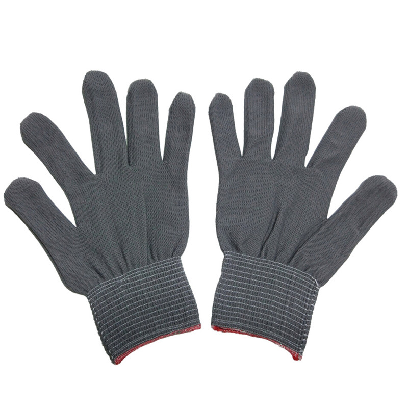 4pcs= 2 Pairs Nylon Antistatic Work Gloves Knit Working Gardening Lumbering Hand Safety Security Protector Grip White Black