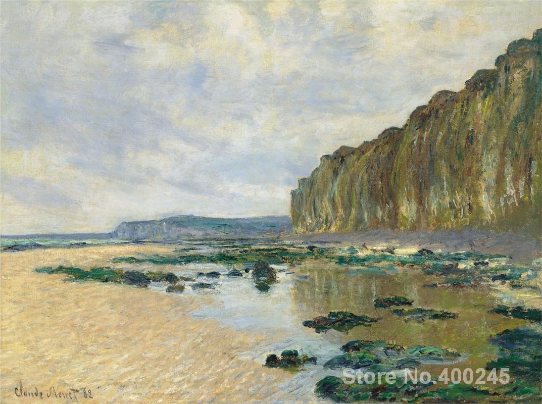 oil Painting room decor Low Tide at Varengeville by Claude Monet Landscape art Handmade High quality