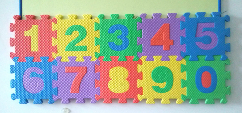 Foam Numbers Mat