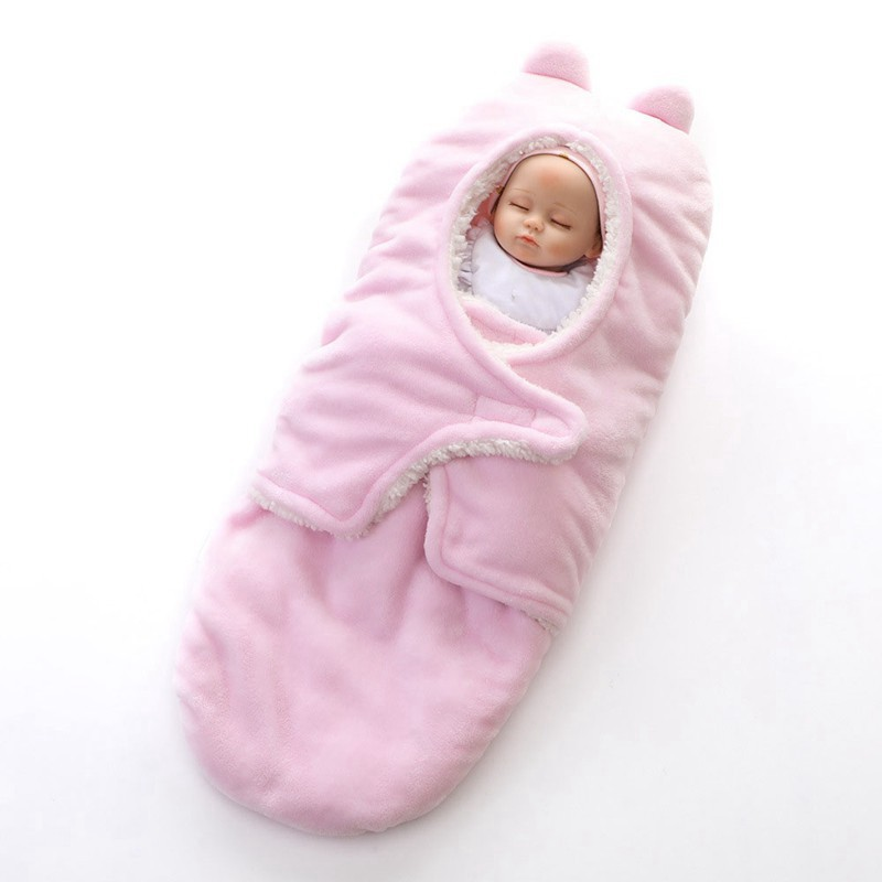 MOTOHOOD Winter New Baby Blankets Thicken Double Layer Coral Fleece Infant Swaddle Wrap Newborn Baby Bedding Blanket 0-12m (13)