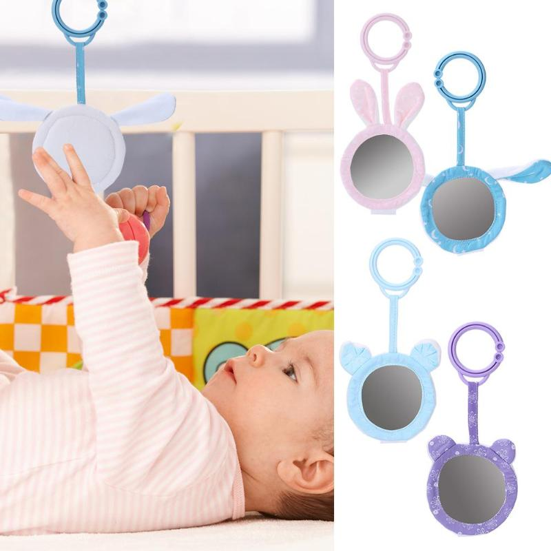 Infant Animal Shape Newborn Baby Rattles Toys Stroller Hanging Mirror Toys Cute Animal Doll Soft Crib Pendant Bells