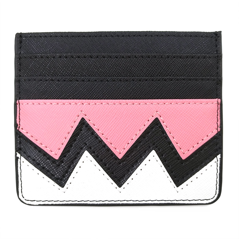 Fashion Rainbow Credit Card Holder Case Genuine Leather Business Travel Card Wallet For ID Cards Cardholder Bag Tarjetero