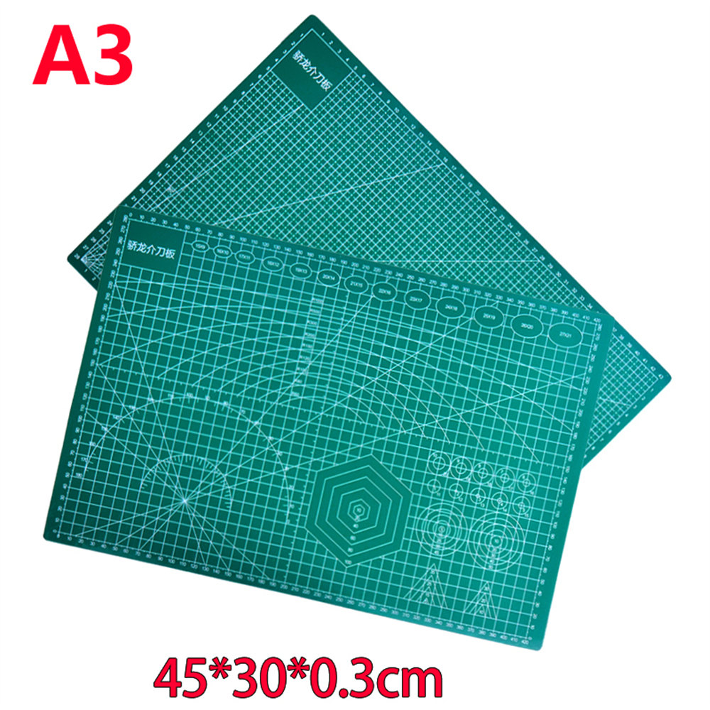 Cutting Mat A3 Pvc Rectangle Self Healing  Desktop Protection Mat  Craft Dark Green 45cm * 30cm*0.3cm pvc rectangle self healing cutting mat tool a4 craft dark green 30cm 22cm