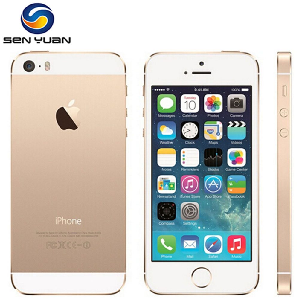 Apple iPhone 5s Factory Unlocked SIRI 16GB Fingerprint Recognition 8MP Used Ios IPS 32GB title=