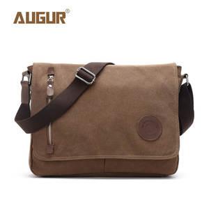 6de6a03bc99 Augur 2018 Leather Men Messenger Bags Shoulder Bag