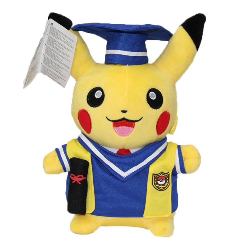 Kawaii Graduation Pikachu Cos Pokeball Cloth Plush Toys Soft Stuffed Animal Dolls for Children\'s Gift 13inch 32cm 2 Styles (9)
