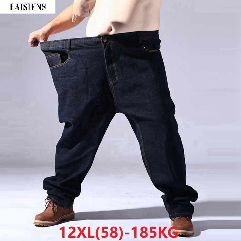 Pantalones Vaqueros Elasticos Para Hombre Pantalon De Otono Elastico Color Negro Talla Grande 9xl 10xl 11xl 12xl 50 54 56 58 Pantalones Vaqueros Aliexpress