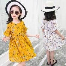 3d31206a6e03 10 anos da princesa crianças casuais uma linha de chiffon vestido da menina  da menina da criança vestidos de verão 2019 tamanho .