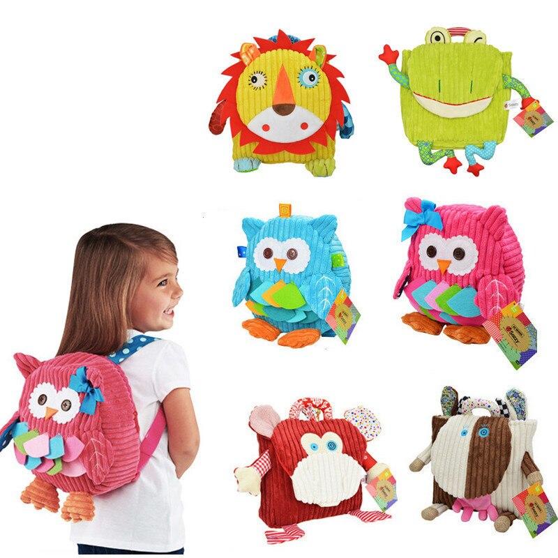New Bag Children Bags Kid Lovely Schoolbag Kindergarten Cartoon Plush Backpack Stuffed Animal Shape Backpack