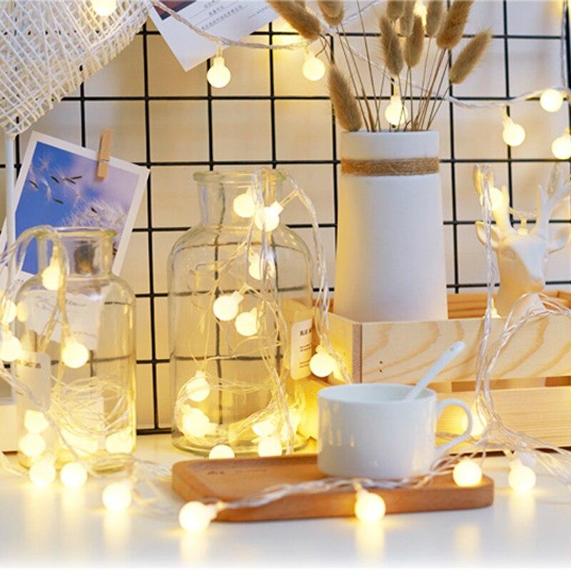 Luces Led Decoracion Ball String Lights Fairy Lights Led Lights Decoration Luces De Navidad For Christmas Home Indoor Decoration