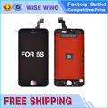 1PCS for iphone 5s LCD Display Complete with Touch Screen Digitizer Assembly Glass Replacement Parts Black White Free Shipping