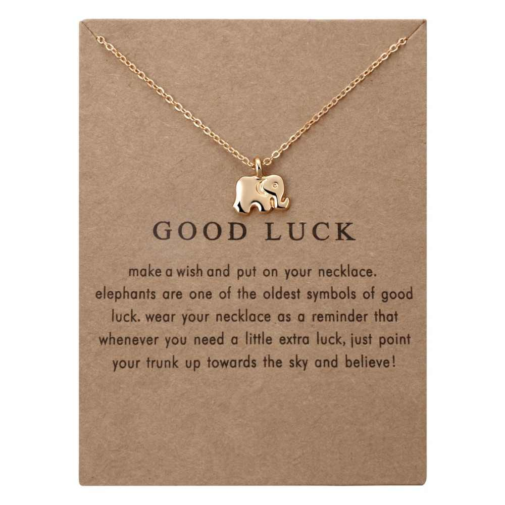 Fashion Elegant Chocker Necklace Animal Necklace Elephant Gold Luck Necklaces Vintage Necklace Pendant Charm Women Friend Gift