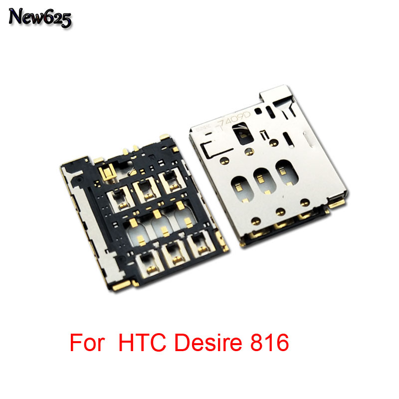 2pcs/lot Original new For HTC Desire 816 820 610 626 826 Sim sd Card Reader Holder Slot Socket Connector Mobile Phone Cable