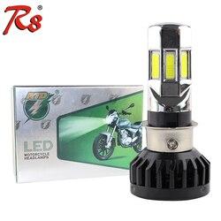 Rtd AC ve DC evrensel tip motosiklet LED far ampulü M02E H4 HS1 BA20D P15D H6 3500LM 35W tüm motosiklet 6COB 6000K
