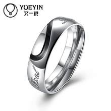 Rose gold color rings for women men Engagement rings anel masculino Trendy Jewelry supplier Original designs(China)