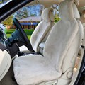 1 pc sheepskin car seat Cover For One Front seat,Cushion Wool Interior Accessories Car sheepskin c078