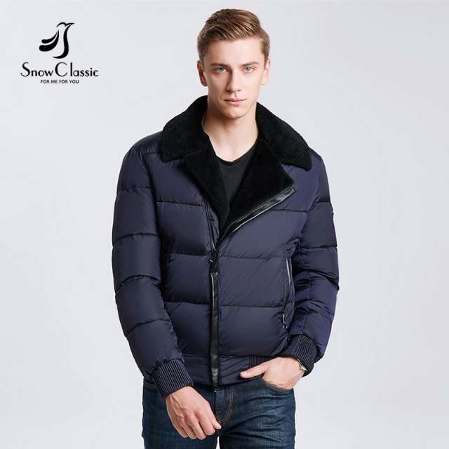 611046e80ade Snowclass2018 winter models men fashion lapel warm business casual hair  collar jacket cotton tide European trend