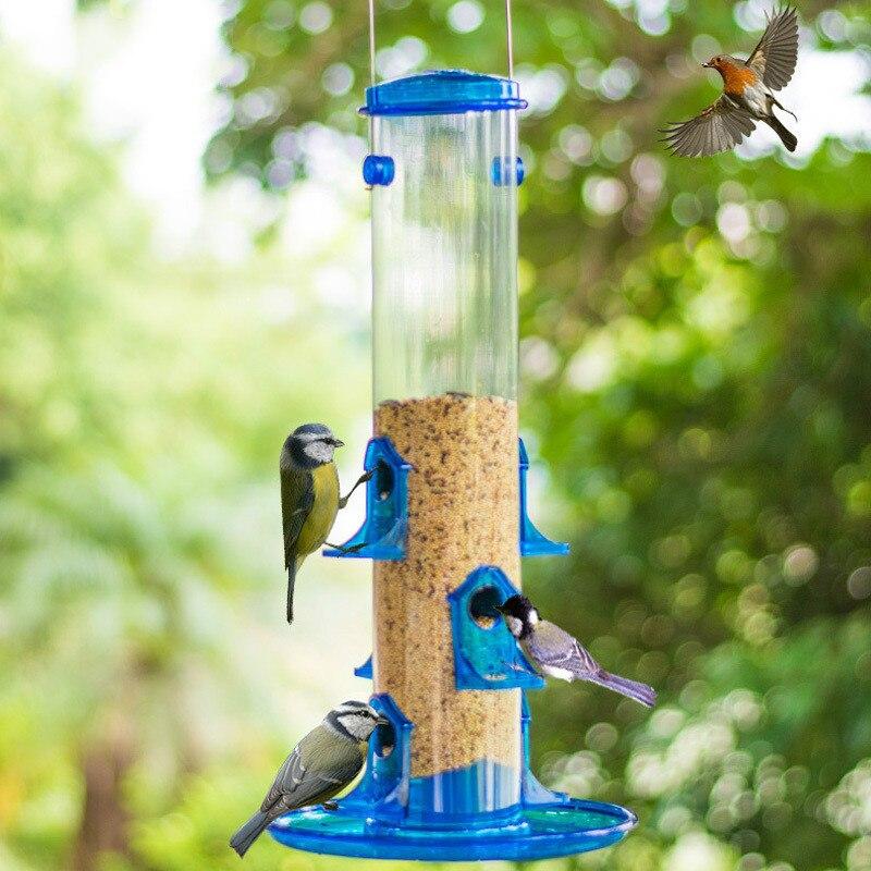 Fournitures d'oiseaux mangeoire automatique de pluie en plein air balcon ornement oiseau pie guide des oiseaux