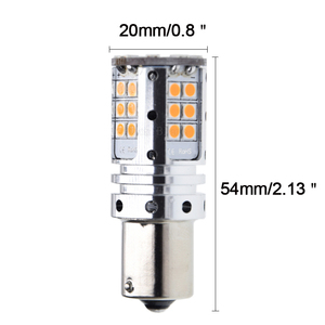 Image 2 - 2 x 1156PY PY21W LED Amber No Error Turn Signal light BAU15S 7507 Orange Yellow 3030 Car Canbus No Hyper Flash Bulb Lamp 12V 24V