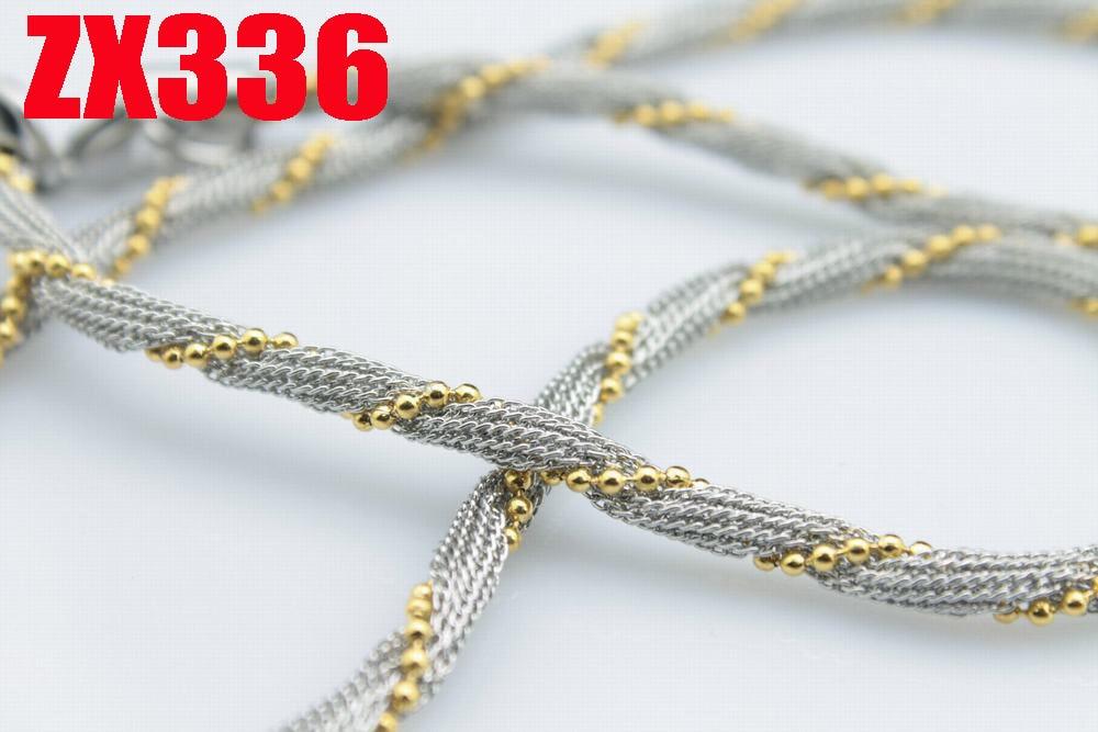 4 мм Чистая цепь ожерелье из нержавеющей стали набор с бусинами цепь изысканные женские модные украшения 20 шт ZX336