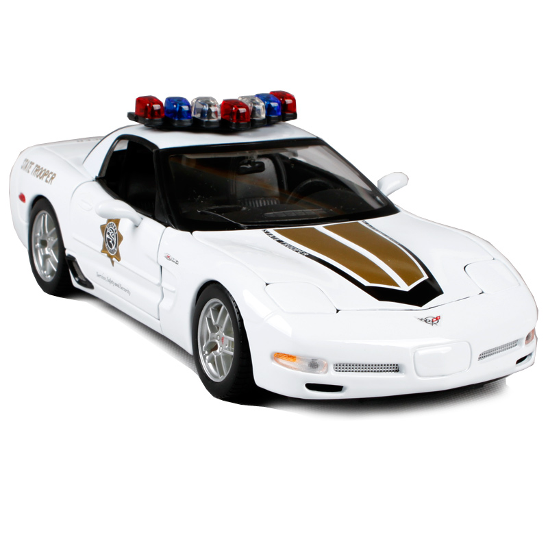 Maisto 1:18 corvette z06 white car diecast precious collecting car model for police state trooper car toys for men 31383-in Diecasts & Toy Vehicles from Toys & Hobbies    1