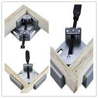 Single Handle 90 Degree Aluminum Angle Clip Woodworking Aquarium Frame Gussets Tool Swing Jaw Corner Clip