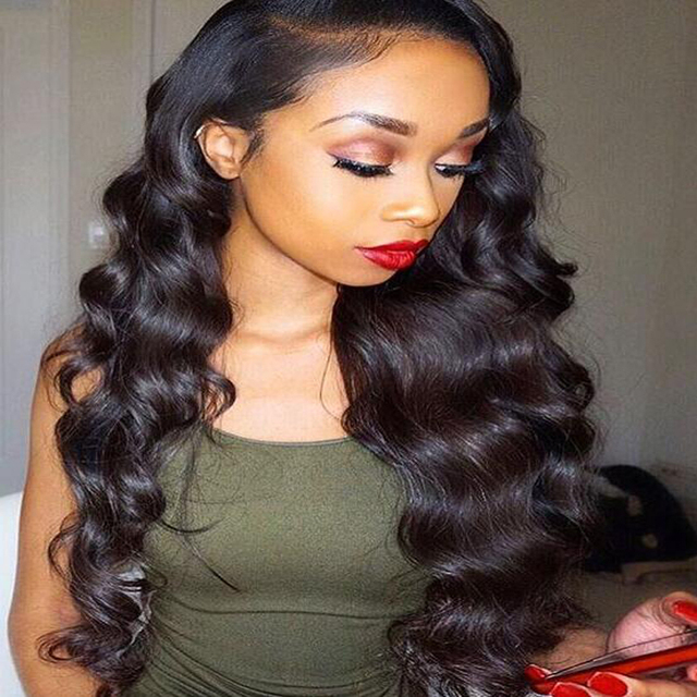 Loose Deep Wave Full Lace Wig Natural Hairline Baby Hair Thick 150