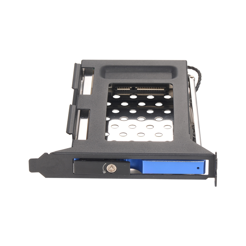 Blue All Aluminum Alloy PCI Slot Mobile Rack Support 2.5 Inch SATA HDD/SSD For PC Expansion Slot SATA3 6Gbps Connector Hotswap