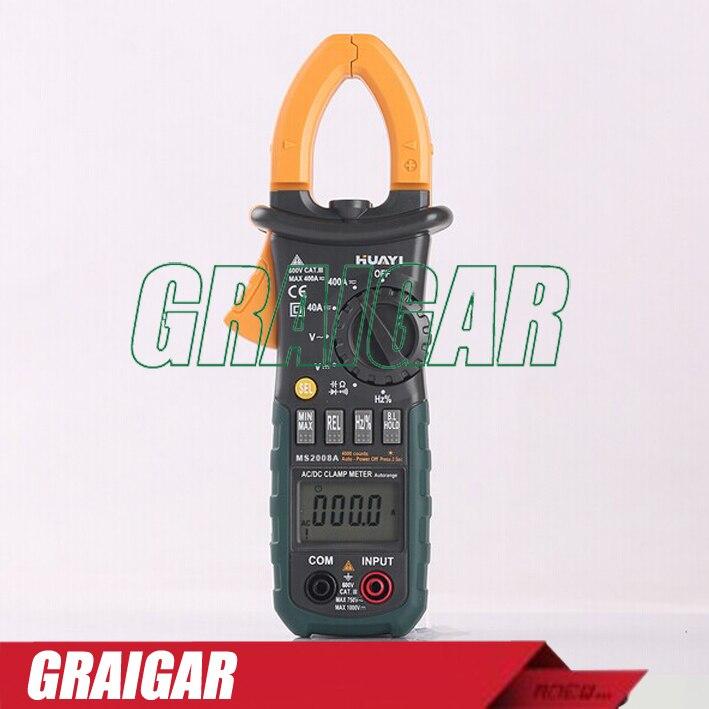 MS2008A Digital AC Current Clamp Meter Multimeter AC DC Voltage Resistance Meter Tester fluke 302 digital clamp meter ac dc multimeter tester current meter fluke302