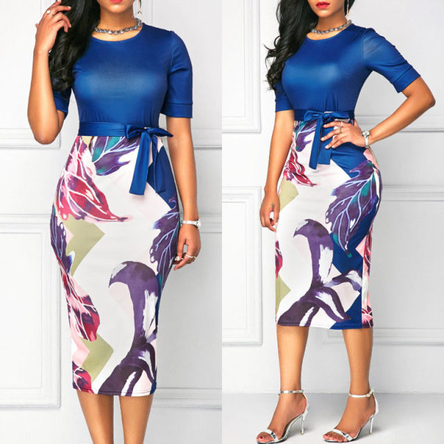 Women Office Classic Bodycon Pencil Dress