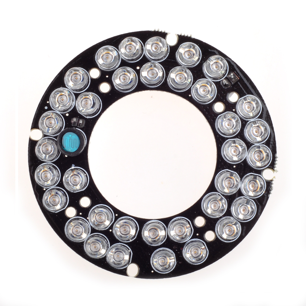 Wholesale 36pcs  IR LED board 5mm Infrared CCTV LEDS  for CCTV cameras night vision (diameter 60mm) for CS LENs 36 5