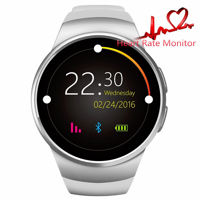 Kingwear kw18 Bluetooth Smart Watch phone support SIM TF card Heart Rate Monitor Smartwatch for font