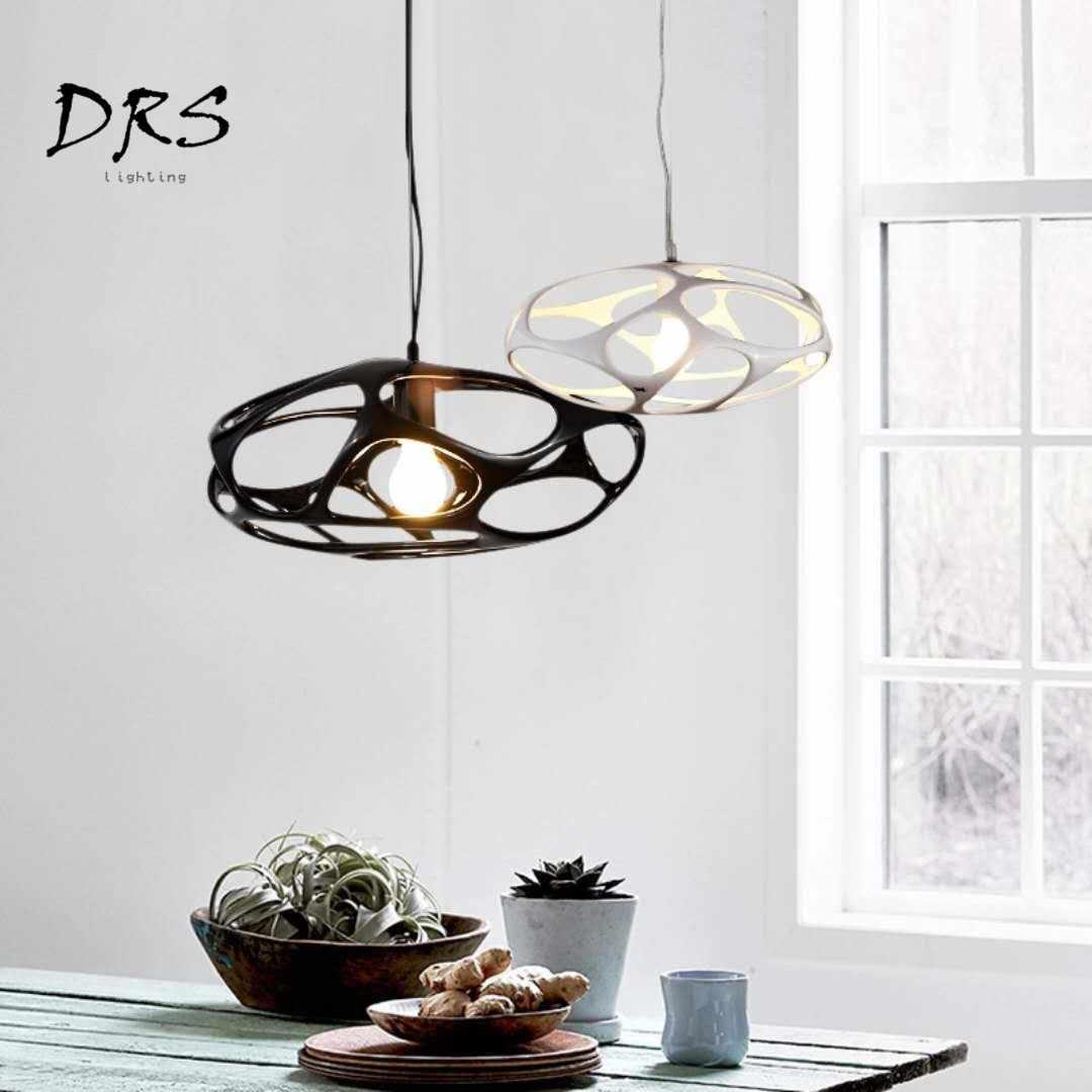 Danish resin pendant lights designer lamp modern fashion vertigo restaurant loft industrial luminaria decor living room