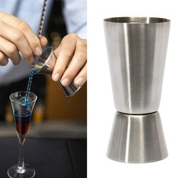 1 pcs Practice New 25- 50ml 2-End Jigger Shot Measure Cup Cocktail Drink Wine Shaker Stainless Bar Tools Utensilios Barman